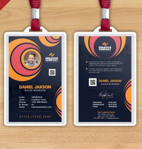 Creative Office Photo Identity Card Design PSD