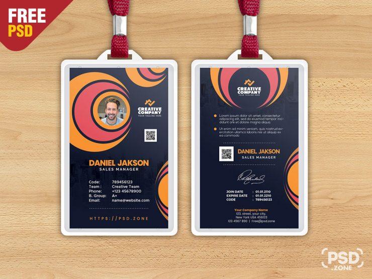Creative Office Photo Identity Card Design PSD
