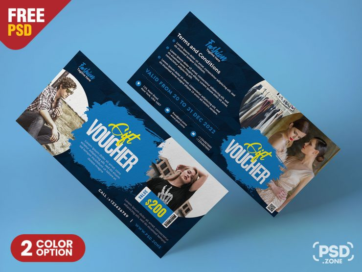 Modern Gift Voucher and Coupon Design PSD