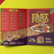 Restaurant Food Menu Bifold Brochure PSD