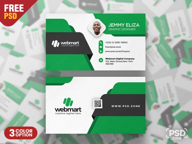Creative Business Card Design PSD Template