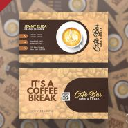Designer Coffee Shop Business Card PSD