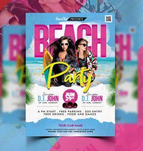 Beach Party Event Flyer PSD