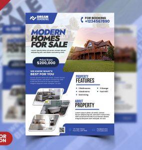 Excellent Real Estate Flyer Design PSD