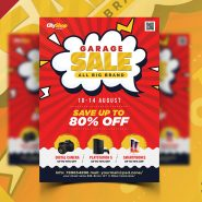 Garage Sale Shopping Flyer PSD