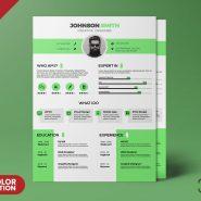 A4 Size Modern Clean Resume CV PSD