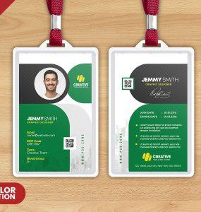 Creative Vertical Office Identity Card PSD