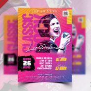 Designer Classic Rock Music Event Flyer PSD