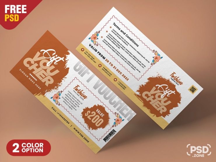 Gift Voucher and Coupon PSD