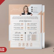 Premium and Clean Resume CV Template PSD