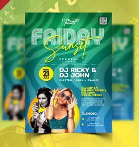 Summer Midnight Party Flyer PSD